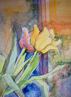 Tulips, watercolor, www.grorykkelid.no
