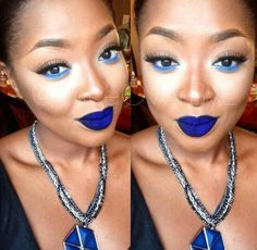This blue lipstick is Amazing