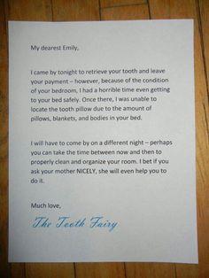 Parenting win. Toorhfairy letter