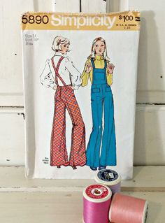 Vintage Sewing Pattern | 1973 Simplicity Misses' Overalls | Size 14 by LittleBohoCottage on Etsy $4.50