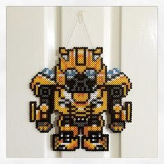 Bumblebee Transformers hama beads by  _halle_b_