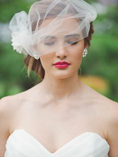 Blusher veil. Swooned: Botanical Bounty: A Gardenesque Shoot with Vintage Flair