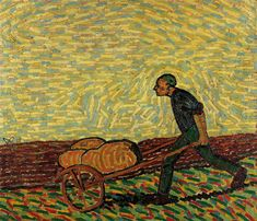 Man with cart, 1911, Georg Tappert. German Expressionist Painter (1880 - 1957)