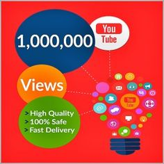 Buy 1,000,000 YouTube Views for your YouTube Video. Worldwide Views. Delivery Time 20 – 30 Days. 100% Safe and Quality Views.