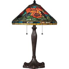 Shop for Quoizel Tiffany-style Berkshire Imperial Bronze Finish Table Lamp. Get free delivery On EVERYTHING* Overstock - Your Online Lamps & Lamp Shades Store! Tiffany Style Table Lamps, Tiffany Lamps, Floor Lamp Shades, Floor Lamps, Quoizel Lighting, Light Table, Glass Shades, Bulb, Bronze Finish