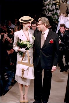 2001 Yves Saint Laurent Haute-Couture    &  Laetitia Casta