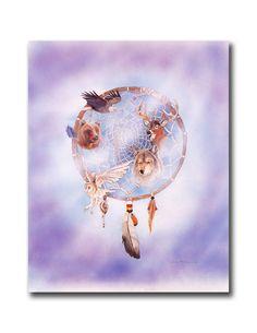Native American Indian Dream Catchers | Native American Indian Dream Catcher Wall Picture 8x10 Art Print ...