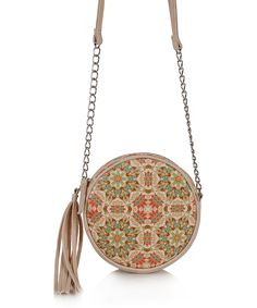 OMG! Accessories Green & Pink Arabesque Circle Crossbody Bag by OMG! Accessories #zulily #zulilyfinds