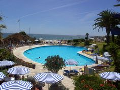 PORTUGAL:  The Algarve Casino hotel pool.  Praia da Rocha, Algarve. #travel #portugal #algarve