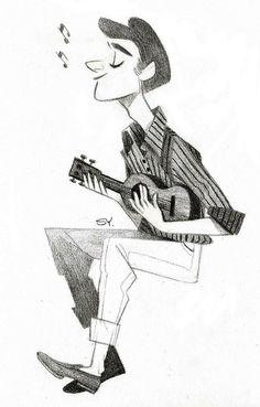 a guy playing ukulele Soyoung Kim