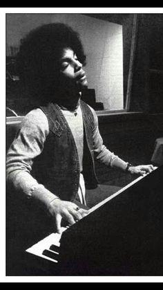 Prince in the studio in the 70s