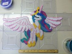 My Little Pony Princess Celestia perler beads by Khoriana on deviantART