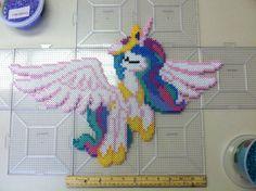 My Little Pony Princess Celestia perler beads by Khoriana on deviantART