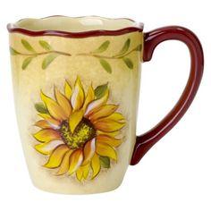 Mugs for Mim @ Target.com: Rise & Shine Sunflower Mug Set of 4 - 16 oz.