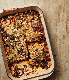 Yotam Ottolenghi's lasagne with chard, spinach and hazelnuts.