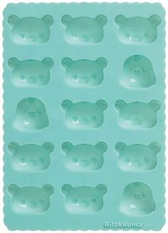 Rilakkuma Silicon Ice Tray $10.95 http://thingsfromjapan.net/rilakkuma-silicon-ice-tray/