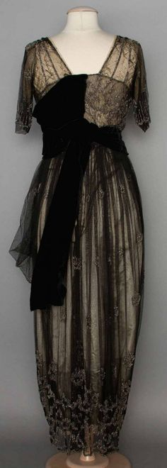 BEADED EVENING GOWN, 1911-1912