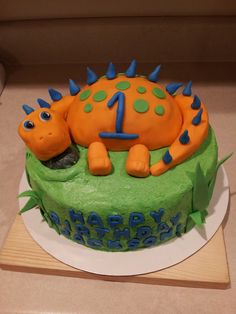 Cake It From Me: 1st birthday Dinosaur cake #dinosaurcake