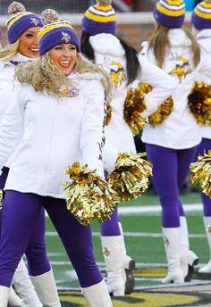 Minnesota Vikings Cheerleaders  2014-2015 Winter Uniform
