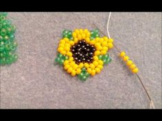 Mini SunFlower Earrings - YouTube