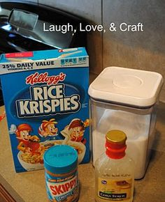 Laugh, Love, and Craft: Manic Monday Recipe~ Peanut Butter Rice Krispy Bars~ YUM! Recipes Using Rice Krispies, Rice Krispie Treats, Jif Peanut Butter, Butter Rice, Yummy Treats, Sweet Treats, Yummy Food, Manic Monday, Dessert Bars