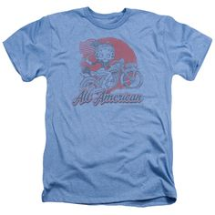 BOOP/ALL AMERICAN BIKER - ADULT HEATHER - LIGHT BLUE - LG