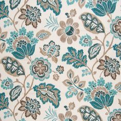 The G3314 Sea upholstery fabric by KOVI Fabrics features Contemporary, Floral pattern and Blue, Teal as its colors. It is a Linen, Made in USA, Print type of upholstery fabric and it is made of 55% Linen, 45% Rayon material. It is rated Exceeds 15,000 double rubs (heavy duty) which makes this upholstery fabric ideal for residential, commercial and hospitality upholstery projects.For help please call 800-860-3105.