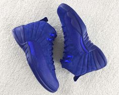 The Air Jordan 12 Releases Continue With This Deep Royal Blue Colorway