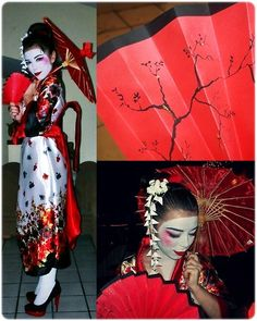 """The Very Word Geisha, Means Artist"" DIY Halloween Costume (by Hildeliza Martinez) http://lookbook.nu/look/2614985-The-Very-Word-Geisha-Means-Artist-DIY-Halloween-Costume"
