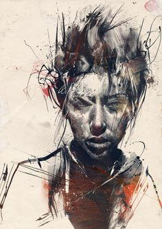 Russ Mills mixes digital and traditional mediums.