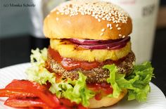Gemüse-Burger mit selbstgemachtem Ketchup