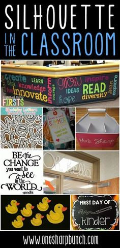 Looking for some classroom DIY ideas that you can create with your Silhouette Cameo?!  Head on over to check out these back to school silhouette projects, classroom dcor designs and classroom organization ideas!  Plus, learn how to cut letters for your b
