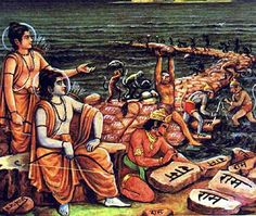 [Rama's Bridge = Adam's Bridge] Hindus believe their god Ram built a bridge in the area, with the help of an army of monkeys, to cross over to Sri Lanka. For those wondering why it was imperative for the Hindu god to cross over, it was to rescue his wife from a Lankan king.