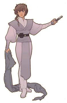 Young woman Jedi from the Star Wars roleplaying game