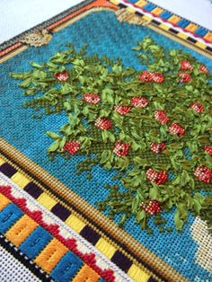 It's not your Grandmother's Needlepoint: The tree is in full bloom!