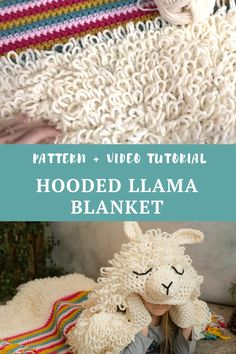 Crochet a cute and cuddly hooded Alpaca my Llama blanket. Pattern includes a video tutorial and comes in toddler, child and adult size. Baby Afghan Crochet Patterns, Baby Blanket Crochet, Crochet Stitches, Knit Crochet, Crochet Crafts, Crochet Projects, Crochet Christmas Decorations, Llama Costume, Crochet For Kids