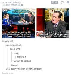Goodness bless Steven Colbert