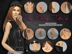 Sims 4 CC's - The Best: Tattoos by Overkillsimmer
