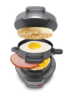 Hamilton Beach promises that making a quick yet fresh breakfast sandwich at home has never been easier. With its Breakfast Sandwich Maker ($29.99), you choose everything that goes into your favorite easy treat, from the bread to cheese to meat.