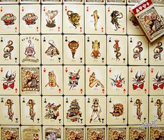 Sailor Jerry - Tattoo playing cards by Jen-X-, via Flickr