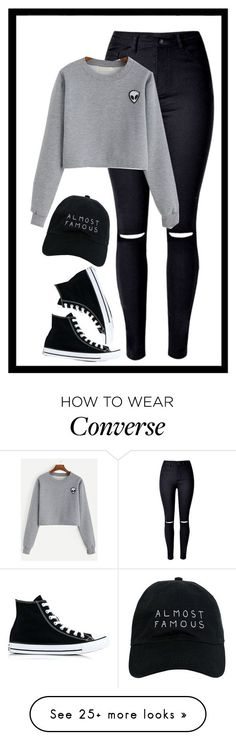 Geen titel #272 by x-essie-x on Polyvore featuring Converse, Nasaseasons, MyStyle and back2school