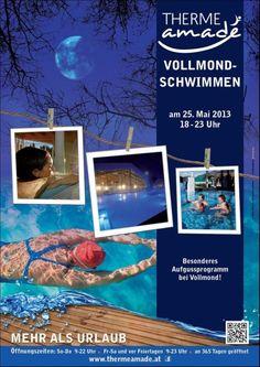 THERME AMADÉ - Vollmondschwimmen am 25. Mai 2013 von 18.00 bis 23.00 Uhr! Genießen Sie ein besonderes Aufgussprogramm bei Kerzenschein in der Vollmondnacht!