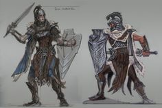 Imperial Armor concept art from The Elder Scrolls V: Skyrim by Adam Adamowicz Elder Scrolls Lore, Elder Scrolls V Skyrim, Elder Scrolls Online, Female Character Design, Character Design References, Character Concept, Character Art, Rogue Character, Character Outfits