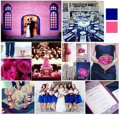 Justwenderful Fuschia And Royal Navy Blue Wedding