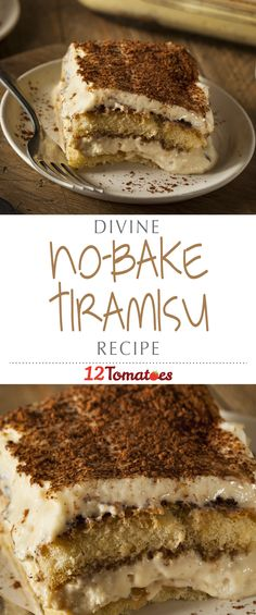 No-Bake Tiramisu | This perfect, Italian dessert is a little cakey, a little creamy, and always has that amazing layer of coffee flavor added to the mix.