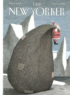 The New Yorker (Dec. - cover art by Franco Matticchio The New Yorker, New Yorker Covers, Saul Bass, Christmas Comics, Christmas Humor, Christmas Cover, Magazine Art, Magazine Covers, Magazine Design
