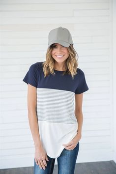 Dear Stitch Fix Vanessa: This is the type of thing I see myself in for the summer. I'd probably go without a cap, but the T is great.