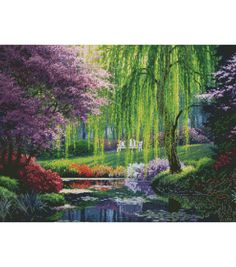 Candamar Designs Needlepoint Kit The Willow Pond & Needle Point at Joann.com