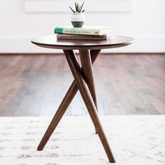 George Oliver Turcotte 3 Legs End Table End Table Sets, Round Side Table, End Tables With Storage, Side Tables, Modern End Tables, Wood End Tables, Bedroom End Tables, Diy Furniture, Furniture Design