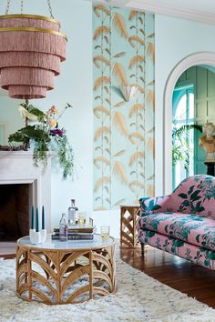 Bright & Buzzy Anthropologie Home Arrivals - Thou Swell - Spring home decor arrivals from Anthropologie on Thou Swell - Interior Modern, Home Interior, Apartment Interior, Colorful Interior Design, Interior Ideas, Anthropologie Home, Anthropologie Furniture, Spring Home Decor, Deco Design